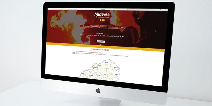 Brandweer Midwest - Website realisatie - Communicatie en reclamebureau 2design Roeselare - Grafisch ontwerp, webdesign en apps - Website