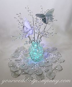 These colorful gel beads give the effect of crystal marbles in any clear vase or container. Water pearls make a beautiful and budget wedding centerpiece idea.