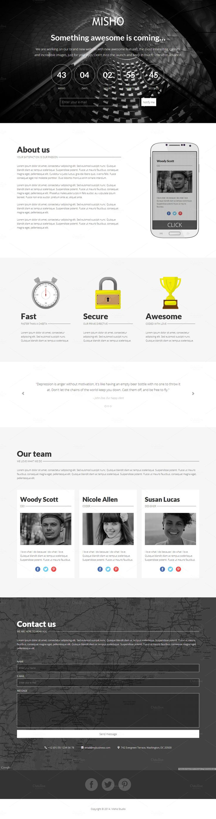 Ace - Responsive Coming Soon Theme
