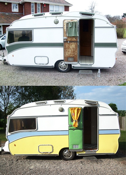 Gracie Fields Vintage Caravan - bunch of before and after pics.
