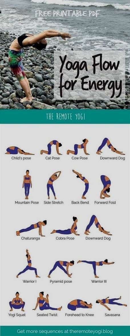 This energizing morning yoga routine is available in a free, printable PDF to ma…