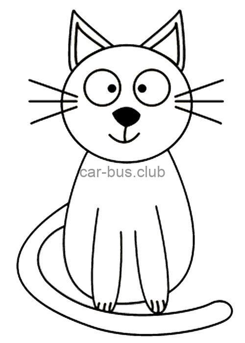 Kedi Boyama Sayfasi Cat Coloring Pages Free Printable Bus