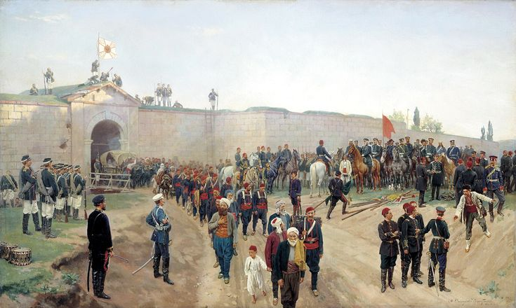 Surrender of a Turkish Fort to the Russians, Russo-Turkish War
