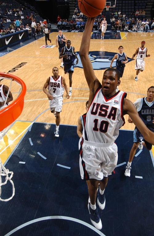 Kevin Durant In The 2006 Nike Hoop Summit Scored 20 Points And Hauled Seven Rebounds