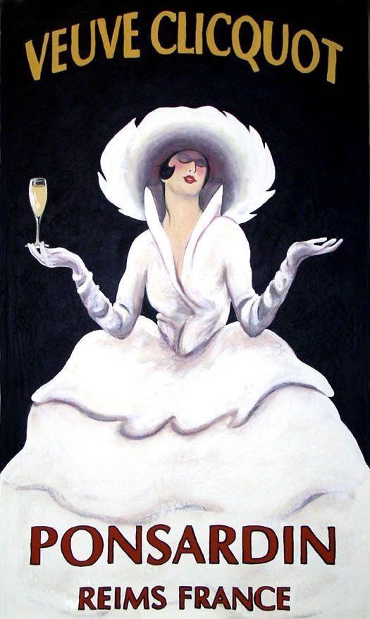 www.justacote.com #justacoté #poster #Vintage  #veuvecliquot Veuve Clicquot: Oil on Canvas by Ann-Marie Graves