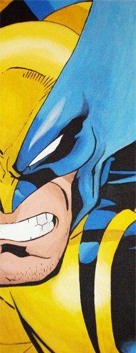 Wolverine acrylique sur toile par SandisComicBookArt sur Etsy