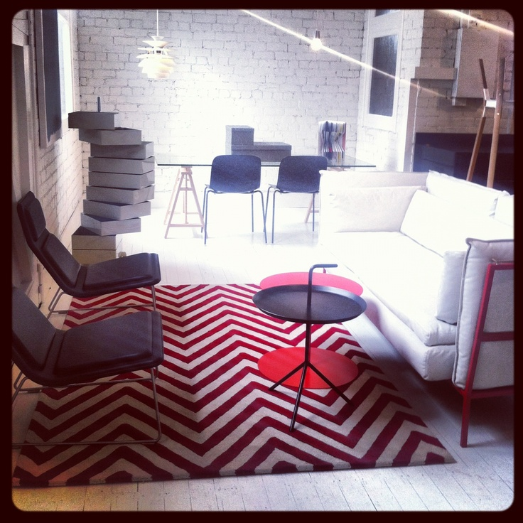 New York Red At The Corporate Culture Showroom In Melbourne Designer Rugs ShowroomMelbourne