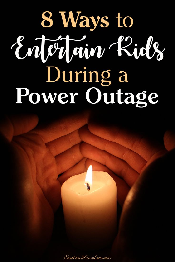 Storm season is coming and we usually get power outages at least a few times a year. The utility company may get it fixed within a few hours, but what about keeping the kids occupied in the meantime? I've put together my 8 go-to ways to keep the kids entertained during a power outage...just in case. You'll need flashlights or candles, but these are power-free solutions to keep them busy.