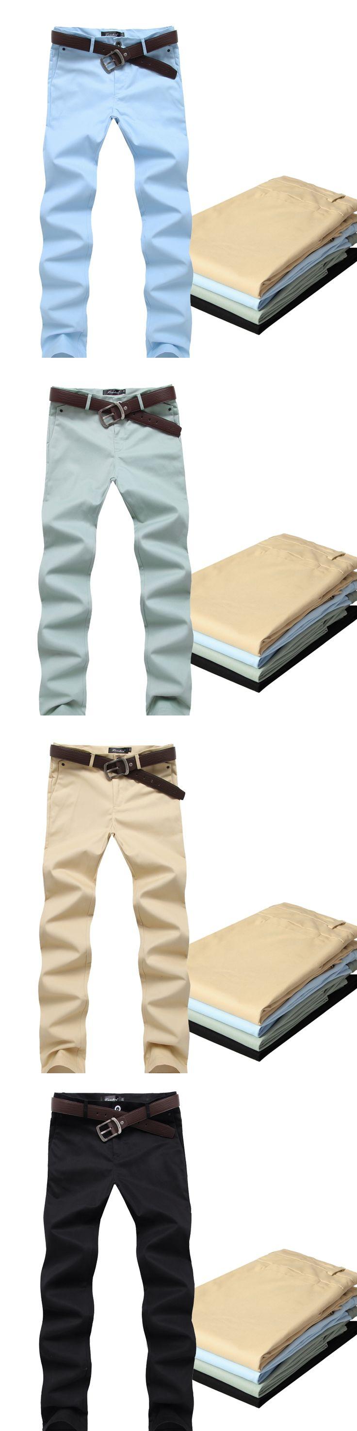 New 2016 male work dress casual pants slim fit straight trousers men men's clothing pantalones hombre size 28-36 5-colors /XXK2
