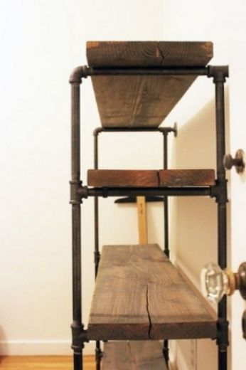 Diy industrial bathroom shelf  viaakeenlife http://akeenlife.com/2012/11/13/diy-rustic-shelf-building/