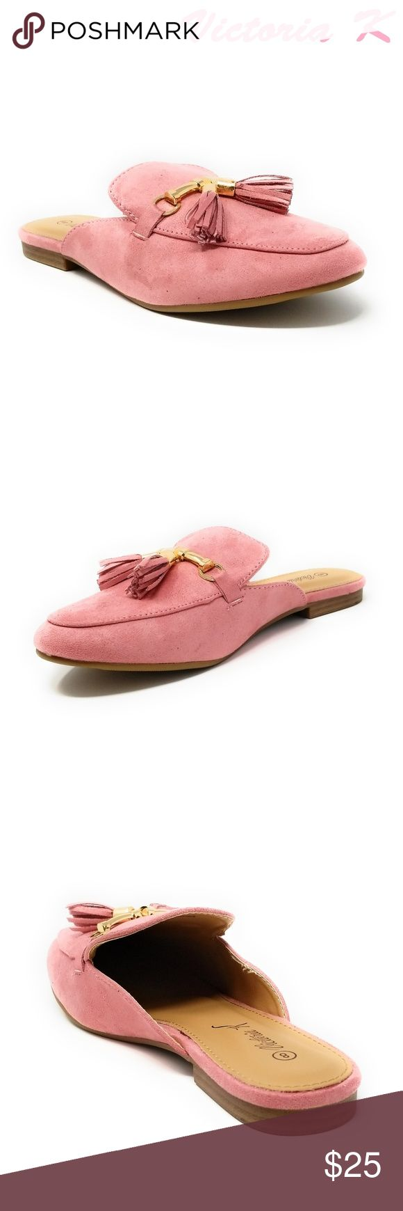 Women Suede Mules with Tassels, HK-7081, Pink Slip on a pair of gorgeous brand new suede flat slippers that make you a fashionable woman. Faux-leather upper. Rubberized outer sole for traction. Sizes 6 through 8 are true, but 9 and 10 run small by a half-size. A true statement in ladies shoes fashion! Victoria K Shoes Flats & Loafers