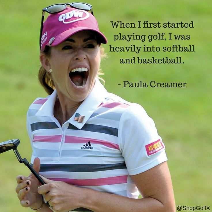 When I first started playing golf, I was heavily into softball and basketball - Paula Creamer #golfing #golflife