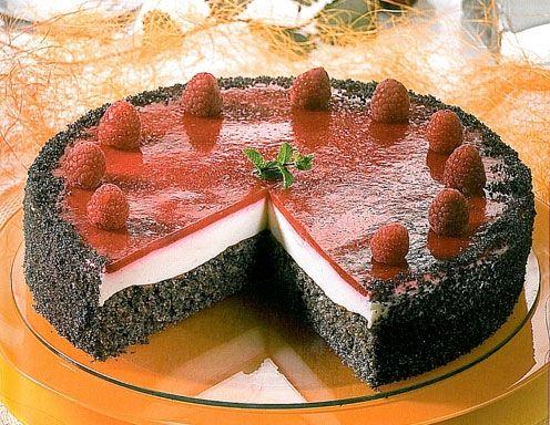 Himbeer Mohn Torte - Rezept - ichkoche.at