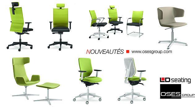 Mobilier de bureau, mobilier amphitheatres, Ile de France   Nouveautés sièges de bureau et détente
