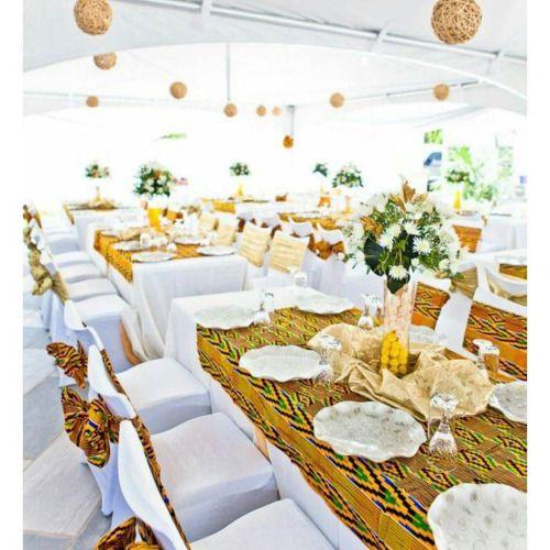 [WE]Decoration de mariage à l'africaine (tissu fréquemment... #wedding #weddings