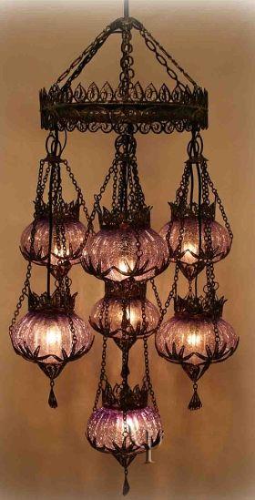 ottoman-style chandelier from yurdan