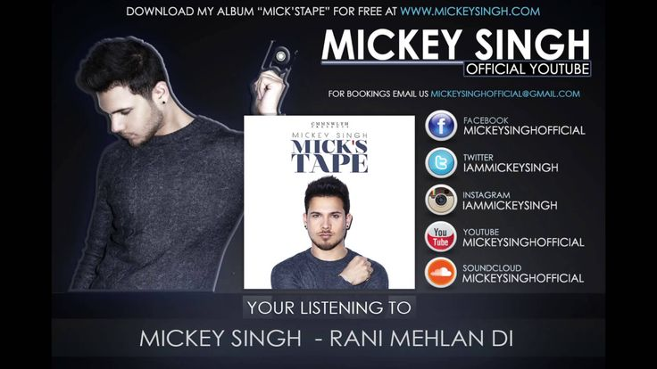 Mickey Singh - Rani Mehlan Di (Official Audio) LOVE this song.