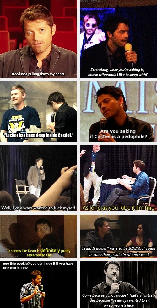 "(gif set) ""Your mouth, sir.. ~ with Misha Collins Part 1"""