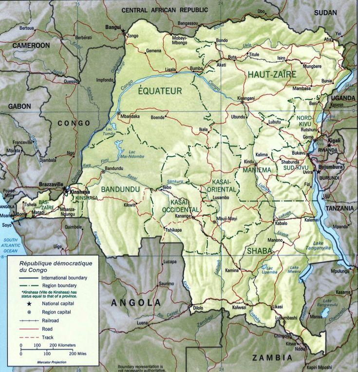 Carte du Congo Kinshasa.