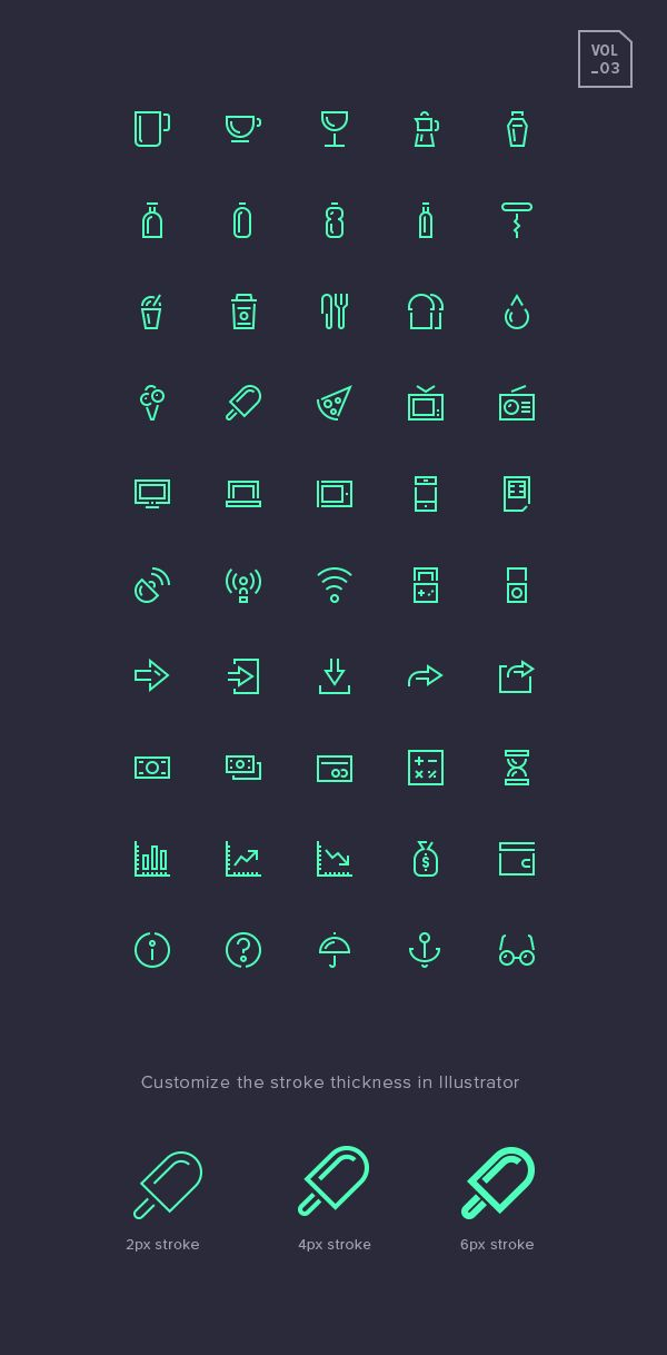 Stroke Gap Vol  Set Includes  Free Icons With Sharp Strokes And Small Accent Gaps Perfect To Add A Distinctive Look And Feel To Your Design Projects And