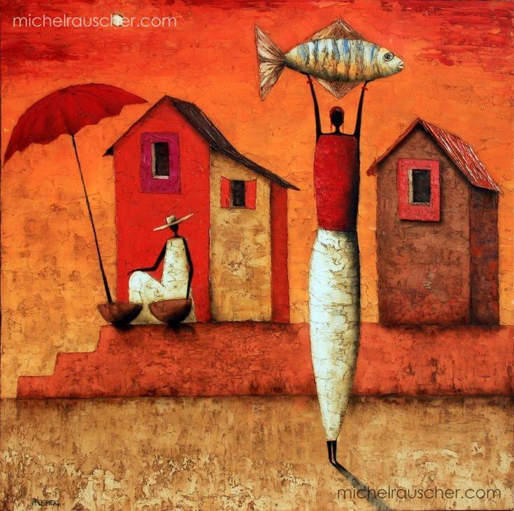 Michel RAUSCHER | Peintures - Huile sur toile - 80 x 80 cm -2009