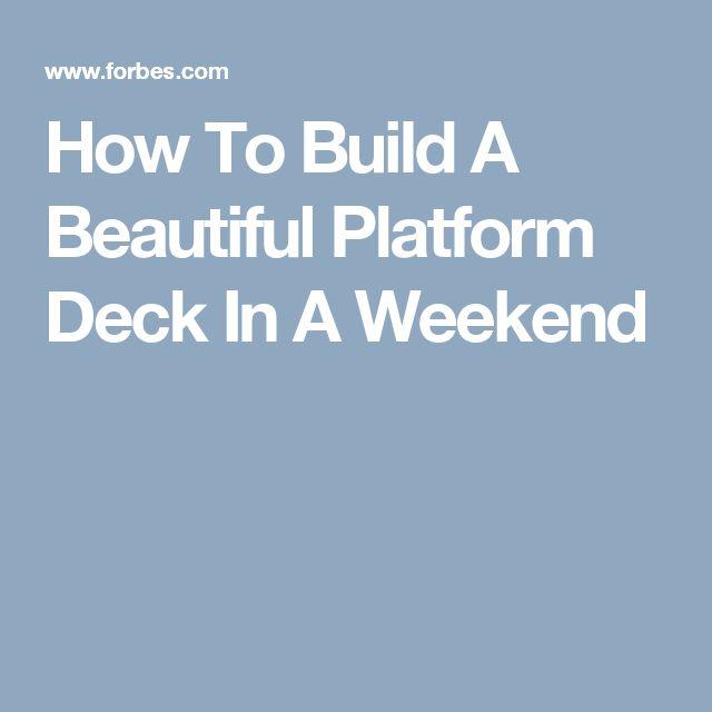 Best 25 platform deck ideas on pinterest low deck low for How to make a decking platform