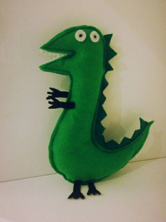 Peppa Pig Themed Mr Dinosaur Inspired Felt Stuffed Toy