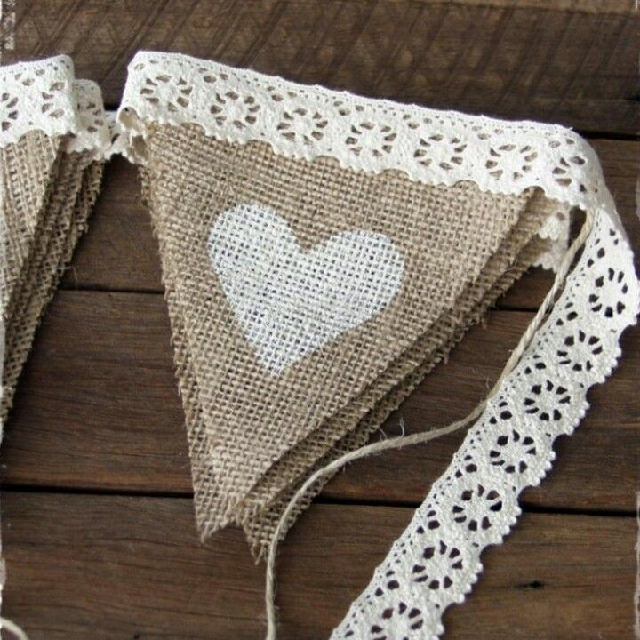 Easy DIY bunting I love this idea and the products used | Source or Designed by ?