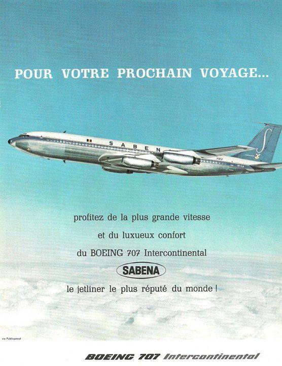 Sabena B-707 - 1960's