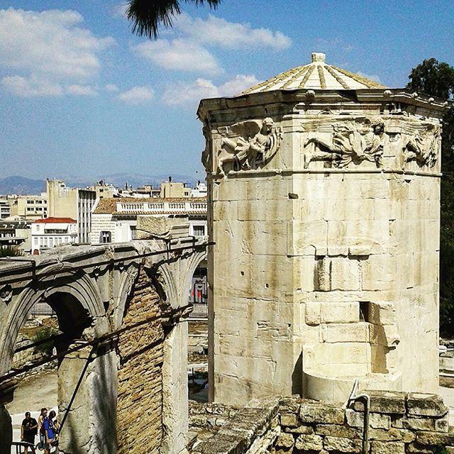 The clock of Kiristos in Roman Agora #urbanathenscollective #hiddenathens…