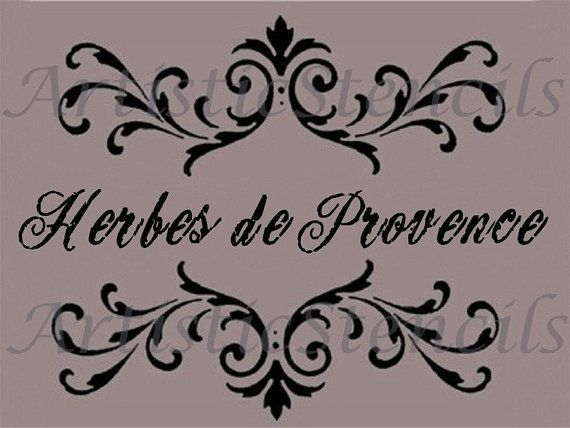STENCIL Herbes of Provence Scroll Brackets 7.1x9.3 on Etsy, $14.00