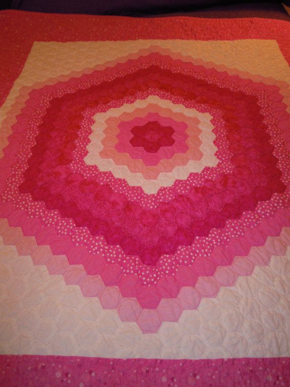 17 Best Images About Hexagon Quilt Guest Book Ideas On