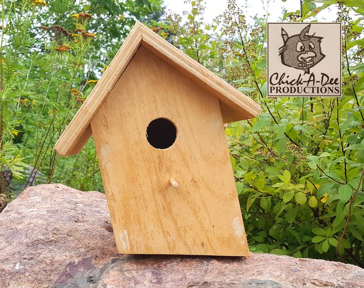 The Leaner Birdhouse:  I'm perfect just the way I am and so are you. Wanna take me home? It's easy, just click me.