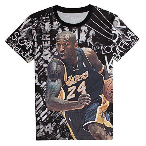 Wish-Ido Men Kobe Bryant 3D Print Fashion Kobe Designed Black Lakers T Shirts M - http://weheartlakers.com/lakers-shirts/wish-ido-men-kobe-bryant-3d-print-fashion-kobe-designed-black-lakers-t-shirts-m