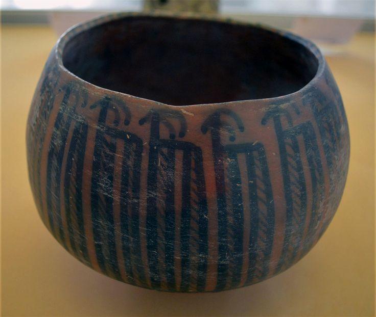 Pottery jar from Shahrir Tehran- fifth millenium B. C. - National museum of Tehran کاسه سفالی منقوش – شهریار تهران- هزاره پنجم پ م – موزه ملی ایران