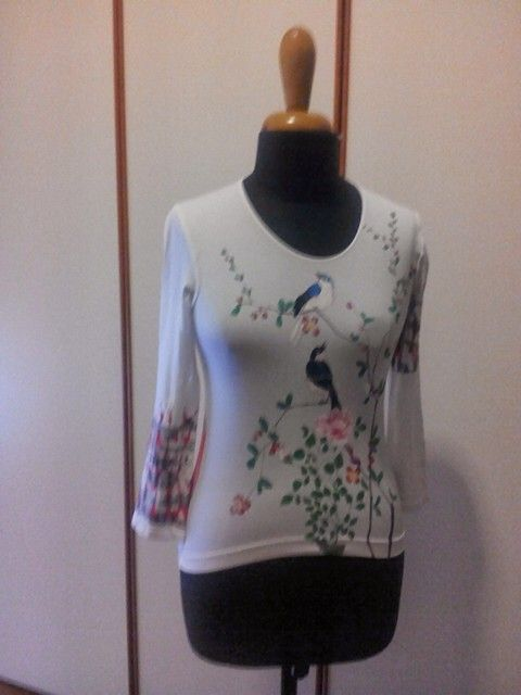 Handpainted shirt by Irene Ferrante