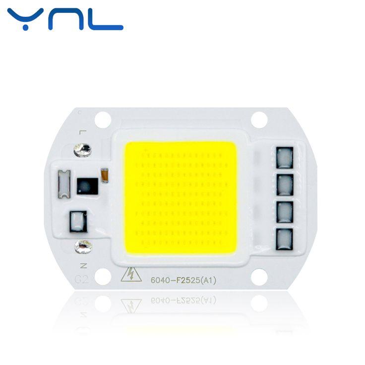 YNL COB LED Chip lamp 110V 220V High Lumen 20W 30W 50W No Need Driver LED Bulb Input IP65 Smart IC Outdoor LED Flood Light chips