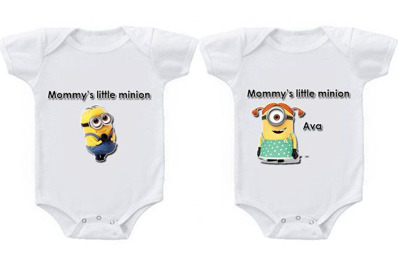 mommy's little minion onesie with custom name