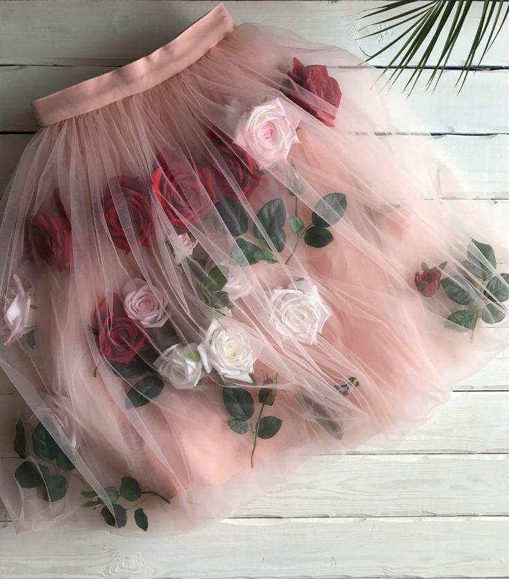 Fatin Skirt with Roses | Фатиновая юбка с розами