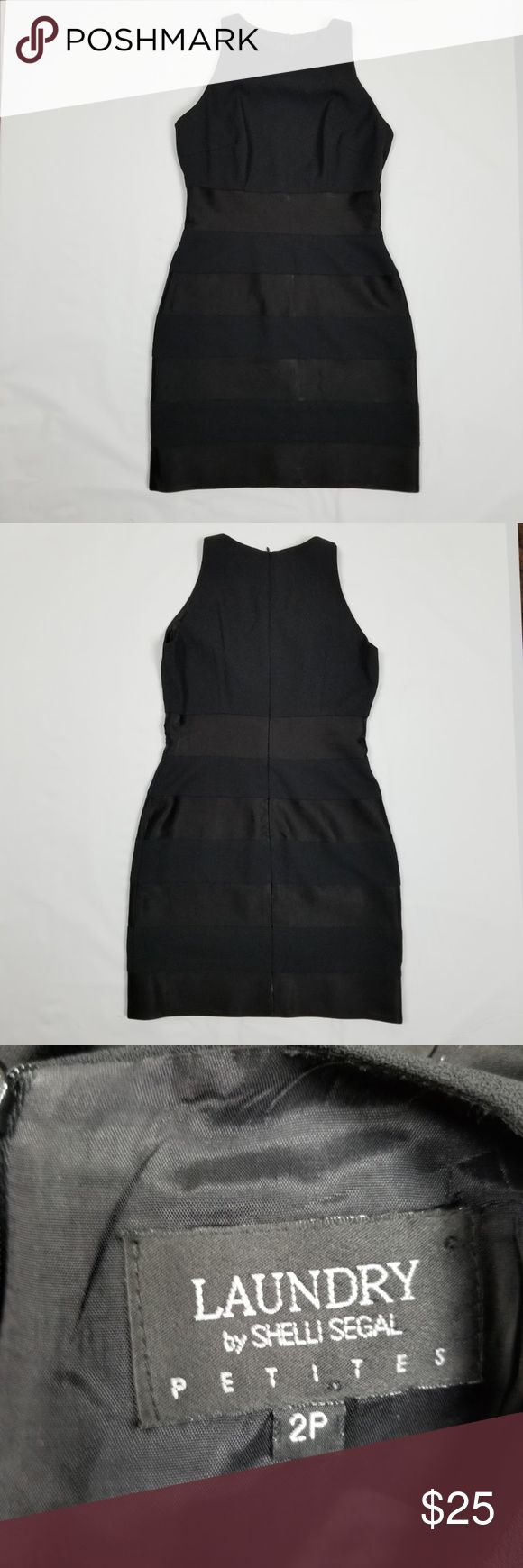 """Laundry by Shelli Segal Little Black Dress Laundry by Shelli Segal Little Black Cocktail Dress VTG 90's Sexy Mini Size 2P  Excellent Condition!  Simple and stylish, Fully lined with rear zip and hook closure. Dress has a fabric block mod, the  fabric does not stretch. Please see pictures for additional details.  Measurements (all approximate with garment laying flat)  Size: 2P Bust: 16.5"""" pit-pit Length: 30""""  Ship within 24 hours  Please note: All items are cross-posted, if they sell on…"""