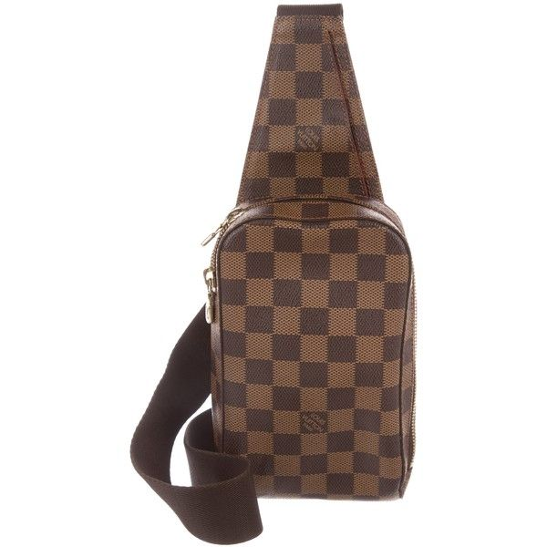 Pre-owned Louis Vuitton Damier Ebene Geronimos Waist Bag ( 695) ❤ liked on  Polyvore featuring bags 935c87e7e538f