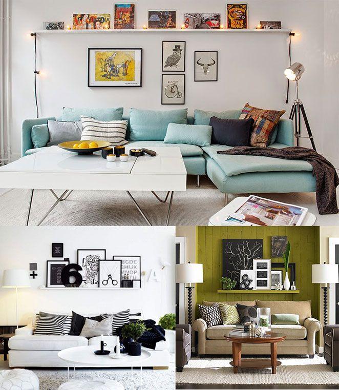 A primeira coisa para prestar atenção antes de investir em uma prateleira atrás do sofá é qual o estilo do seu sofá. Ele é mais alto ou mais baixo? As pessoas costumam pendurar seu pescoço no apoio dele? Ele é retrátil? Tudo isso tem que ser levado em conta para você medir a altura da prateleira. Vale a pena experimentar, colocar as pessoas da casa sentadas no sofá e verificar a altura que mais te agrada – especialmente se você for brincar com mais de uma prateleira atrás do sofá. Mas…