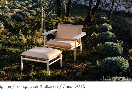 HARRI KOSKINGEN igman / lounge chair & ottoman / Zanat 2015 http://www.harrikoskinen.com/