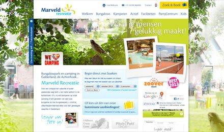 Marveld recreatie, ontwerp, drukwerk en website.