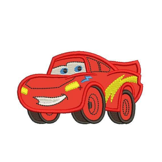 Lightning McQueen, Machine Embroidery Applique Design, 2