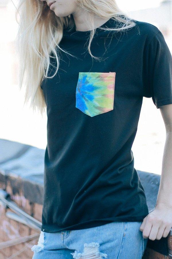 Brandy ♥ Melville | Raven Tie-Dye Pocket Tee - Graphics