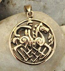 Odyn i Sleipnir - talizman z brązu • Onegdaj