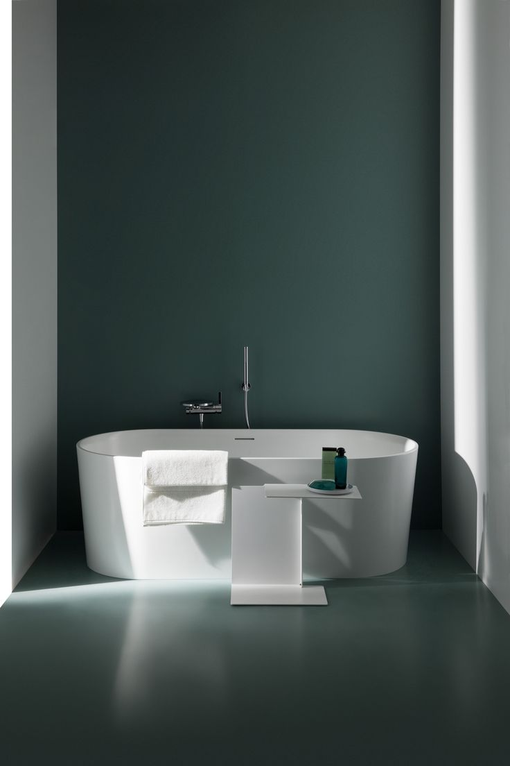 With a small footprint, the new VAL freestanding bathtub fits easily into any size bathroom. Read more: http://www.ish.laufen.com/LAUFEN_ISH_EN/en_eng/sa_ish/sa_products/