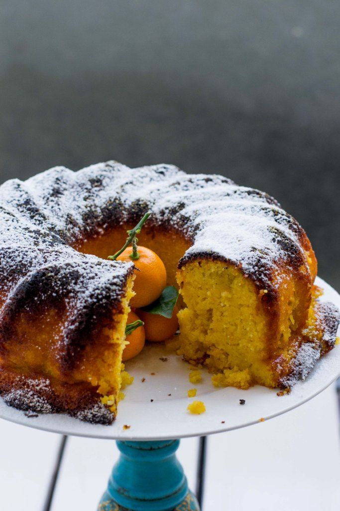 Flourless Orange Kumquat Cake - Gluten, Dairy & Sugar Free