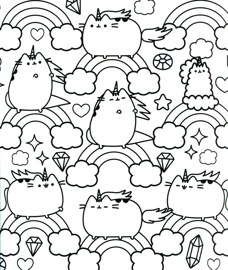 Coloring Pages Pusheen : Pusheen coloring book the cat board